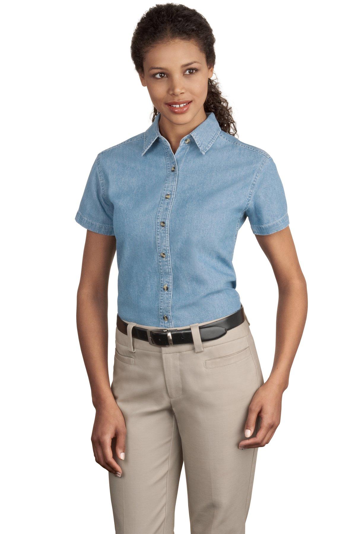 40f359e34b7 Port & Company Camisa de Mezclilla LSP11 Uniformes Empresariales