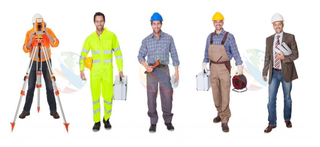 Uniformes de trabajo.