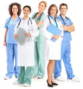 Uniformes médicos.