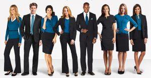 Uso de uniformes empresariales