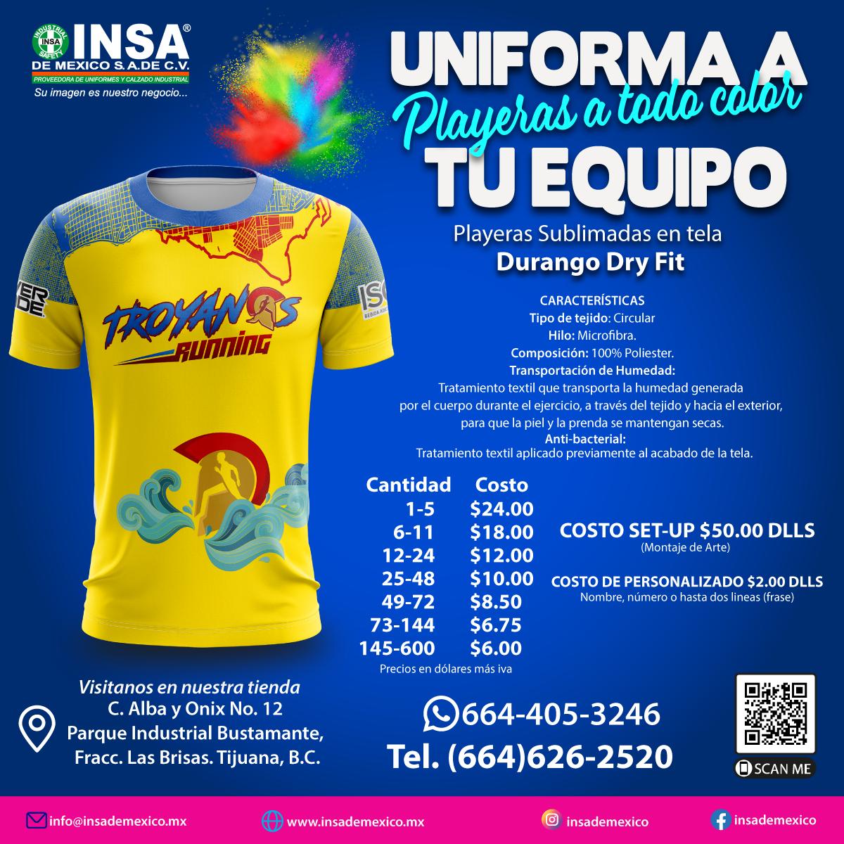 Uniformes deportivos tijuana